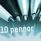 Pennor med tryck är den allra mest populära reklamprodukten.